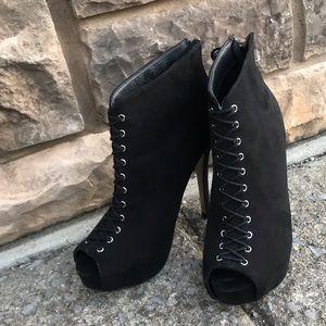 Rock Republiic, black suede heels